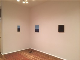 in daylight small paintings: installation view: karen baumeister & merrill wagner [from right to left] chklst. nos. 21. 23. and 24.